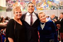 Atlanta, GA - December 8, 2016 - College Football Hall of Fame: Shelley Smith, James Connor of the University of Pittsburght Panthers and Holly Rowe on the Red Carpet for the College Football Awards (Photo by Phil Ellsworth / ESPN Images)