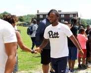 Pitt Freshman arrive at the Mel Blount Youth Leadership Initiative (Photo by David Hague)