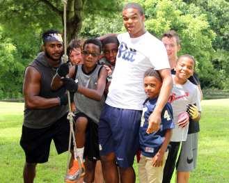 Pitt Freshman at the Mel Blount Youth Leadership Initiative (Photo by David Hague)