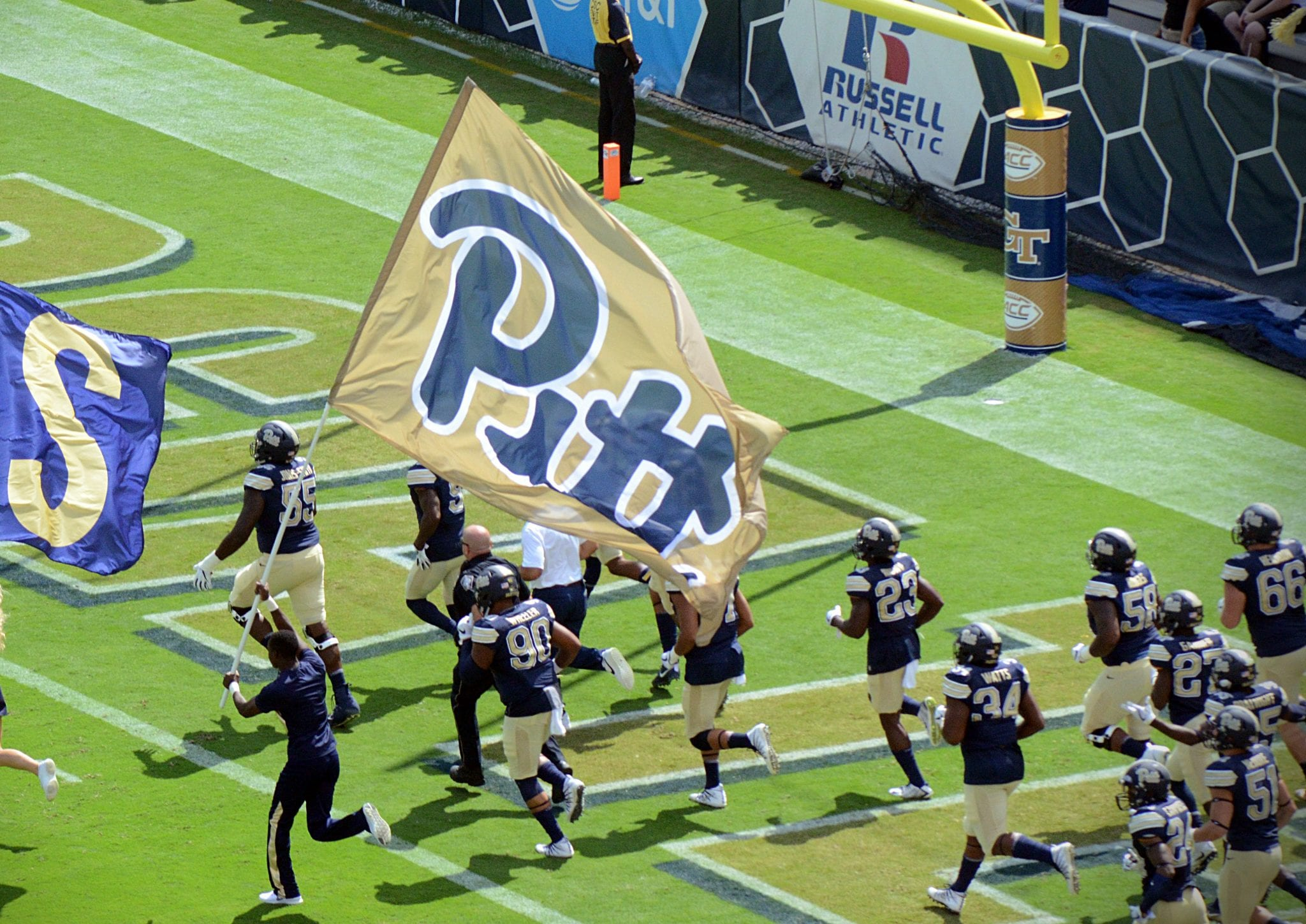 Pitt takes the field in Atlanta. -- MITCHELL NORTHAM