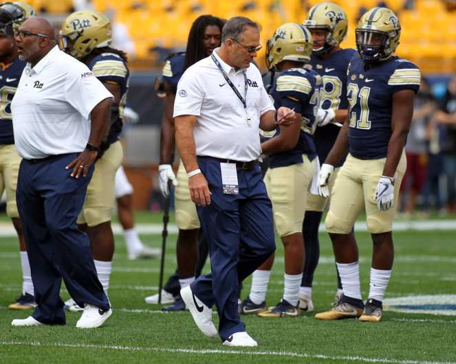 Pat Narduzzi during pregame September 2, 2017 -- David Hague
