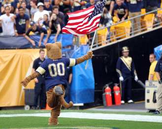 Roc running with the flag September 2, 2017 -- David Hague