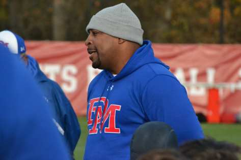 Dematha head coach Elijah Brooks. -- ALAN SAUNDERS