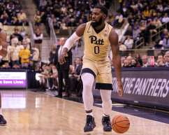 Jared Wilson-Frame (0) eyes up the defense as the Pitt Panthers take on West Virginia on December 9, 2017 -- DAVID HAGUE