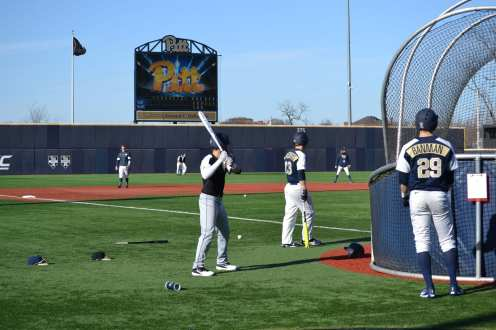 Pitt Baseball Batting Practice