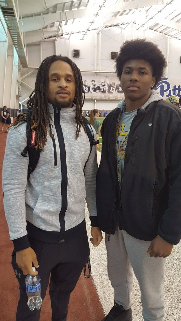 Avonte Maddox and MJ Griffin at Pitt's spring practice