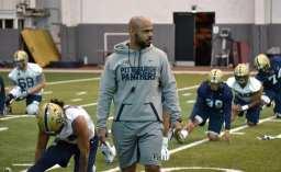 New safeties coach Corey Sanders.