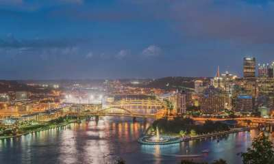 Panorama of Pittsburgh during the blue hour from Mt. Washington -- DAVE DICELLO / Used under license