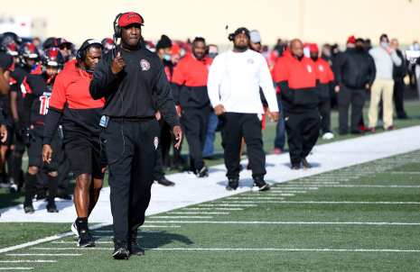 PITTSBURGH, PENNSYLVANIA - NOVEMBER 13: Aliquippa head coach during the WPIAL Class 4-A Football Championship game at Newman Stadium on November 13, 2020 in Pittsburgh, Pennsylvania (Photo by Justin Berl)