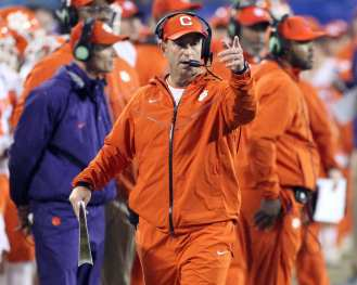 Dabo Swinney for Clemson in the ACC Championship Game December 1, 2018 -- David Hague/PSN