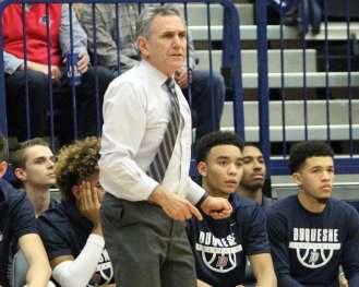 Duquesne Coach Keith Dambrot December 5, 2018 -- David Hague/PSN