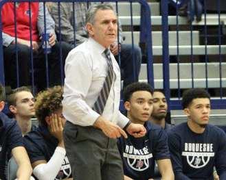 Duquesne Coach Keith Dambrot December 5, 2018 -- David Hague/PSN