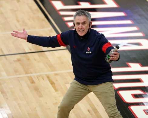 Coach Keith Dambrot January 20, 2021 Photo by David Hague/PSN