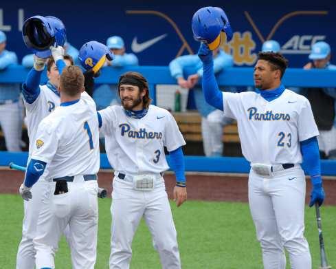Celebrate Homerun Pitt Baseball April 17, 2021 Photo by David Hague/PSN