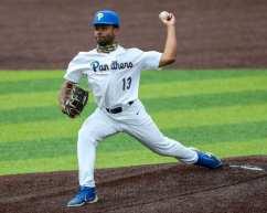 Corey Sawyer (13) Pitt Baseball April 17, 2021 Photo by David Hague/PSN