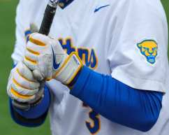 Pitt Baseball Batting Gloves April 17, 2021 Photo by David Hague/PSN