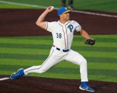 C.J. McKennitt (38) Pitt Baseball April 17, 2021 Photo by David Hague/PSN