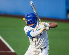 David Yanni (24) Pitt Baseball April 17, 2021 Photo by David Hague/PSN