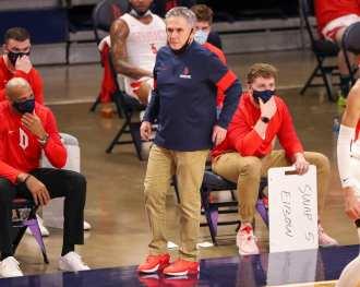 Coach Keith Dambrot February 27, 2021 - Photo by David Hague/PSN