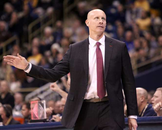 Louisville Head Coach Chris Mack January 9, 2019 -- David Hague/PSN