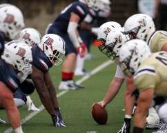 Duquesne tries to keep Valpo out of end zone September 8, 2018 -- DAVID HAGUE