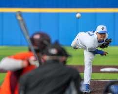 Mitch Myers (27) Pitt Baseball March 26, 2021 - Photo by David Hague/PSN