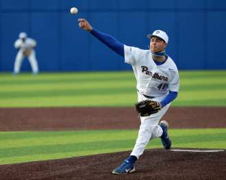 David Ferguson (48) Pitt Baseball March 26, 2021 - Photo by David Hague/PSN
