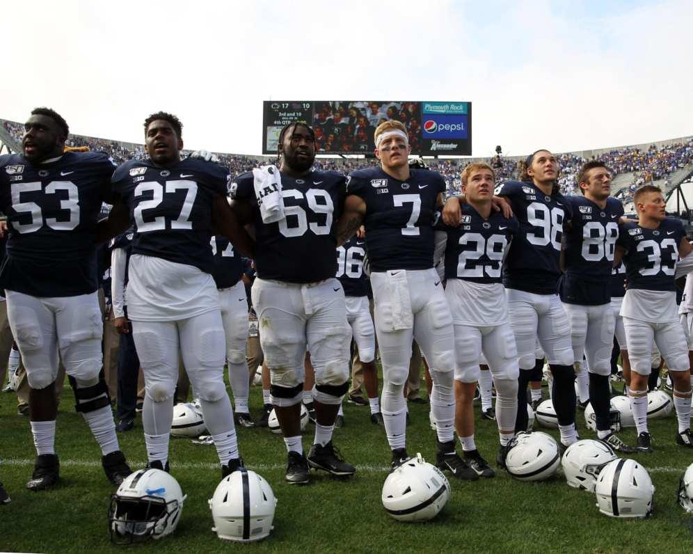 Penn State Players September 14, 2019 -- David Hague/PSN