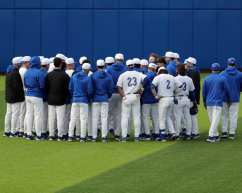 Pitt Baseball team March 26, 2021 - Photo by David Hague/PSN