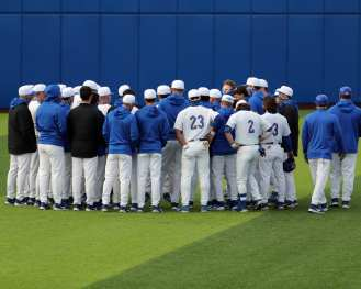 Pitt Baseball team March 26, 2021 - Photo by David Hague/PSN