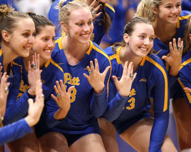 Pitt Volleyball gets their ACC Rings September 22, 2019 -- David Hague/PSN
