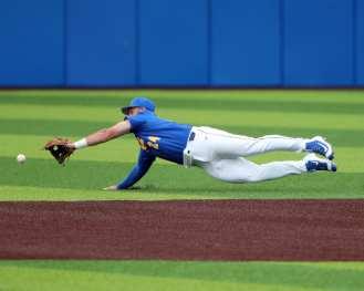 David Yanni (24) Pitt Baseball March 28, 2021 - Photo by David Hague/PSN