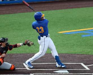 Ron Washington Jr (23) Pitt Baseball March 28, 2021 - Photo by David Hague/PSN