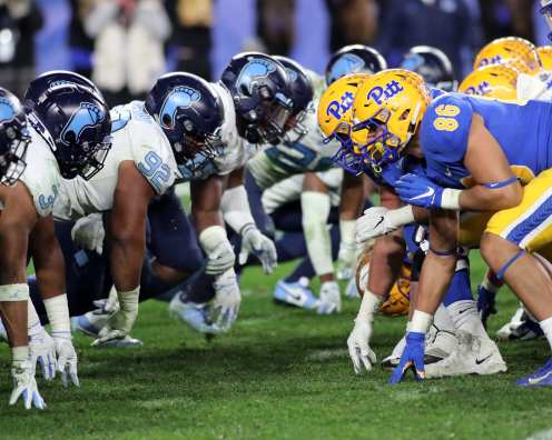 Pitt Lines up against UNC Football November 14, 2019 -- David Hague/PSN