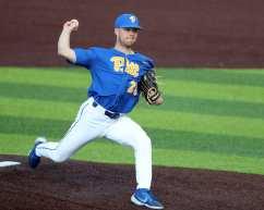 Jordan McCrum (28) Pitt Baseball March 28, 2021 - Photo by David Hague/PSN