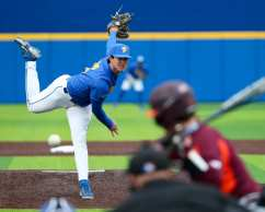 Dylan Lester (36) Pitt Baseball March 28, 2021 - Photo by David Hague/PSN