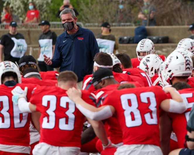 Jerry Schmitt Duquesne Football April 11, 2021 Photo by David Hague/PSN