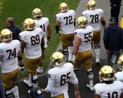 Notre Dame takes the field for game against Pitt October 24, 2020 David Hague/PSN