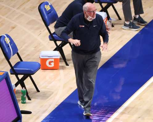 Coach Jim Boeheim January 16, 2021 Photo by David Hague/PSN