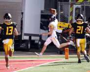 Anderson Cynkar (5) with the interception return for a touchdown November 7, 2020 David Hague/PSN