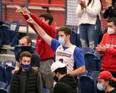 Duquesne Fans February 2, 2021 Photo by David Hague/PSN