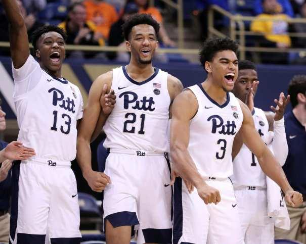 Terrell Brown (21) Malik Ellison (3) and Khameron Davis (13) February 16, 2019 -- David Hague/PSN