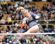 Rachel Dugan Pitt Gymnastics January 12, 2019 -- David Hague/PSN