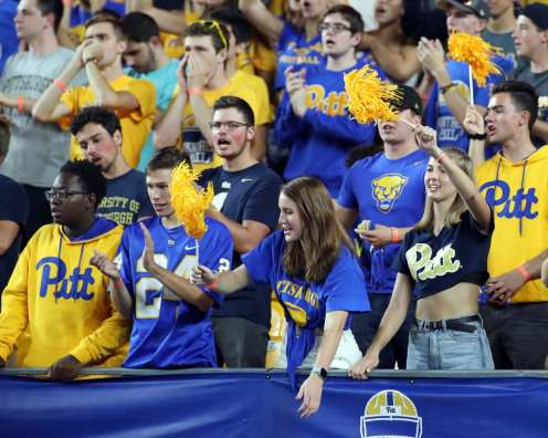 Pitt Students section -- August 31, 2019 Photo By David Hague/PSN