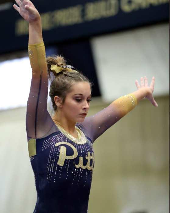Haley Brechwald Pitt Gymnastics January 12, 2019 -- David Hague/PSN
