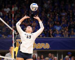 Gabby Blossom (13) for Penn State Volleyball September 22, 2019 -- David Hague/PSN