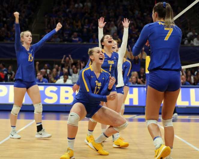 Pitt Volleyball September 22, 2019 -- David Hague/PSN