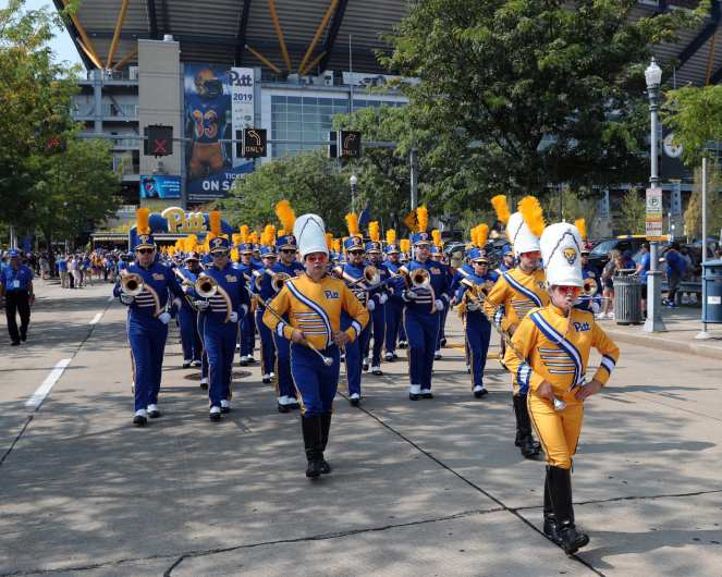 Pitt Band September 21, 2019 -- David Hague/PSN