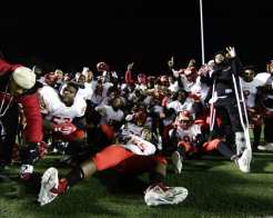 Penn Hills players pose for a photo after winning the 5A Championship November 23, 2018 — BEN BAMFORD