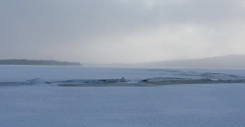 PUBLIC SAFETY ALERT - Please be advised there is a large pressure ridge on First Connecticut Lake. Use extreme caution.  Catherine Swain Photo
